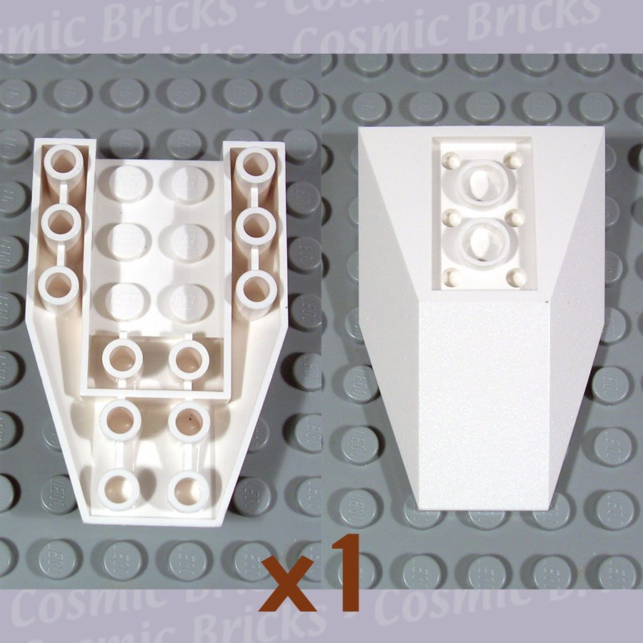 LEGO White Wedge 6x4 Triple Inverted 485601 4856 (single,N)