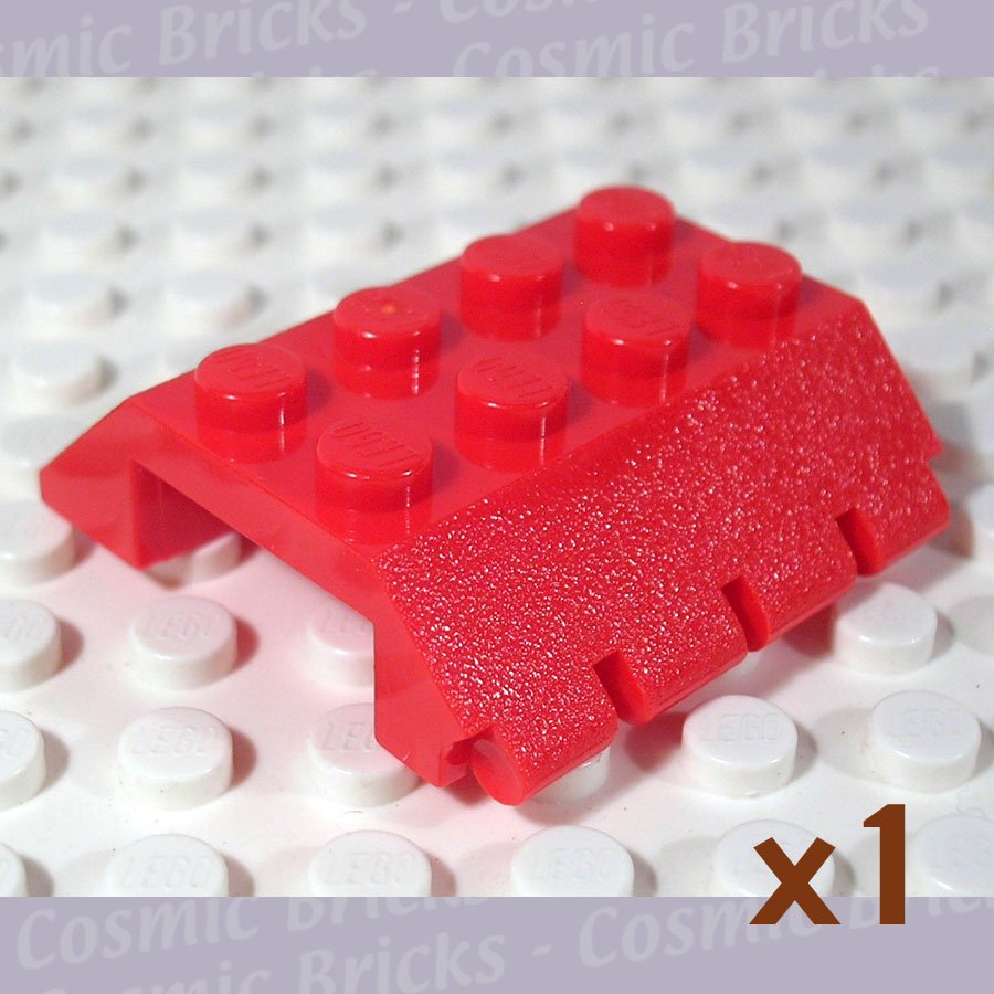 LEGO Bright Red Slope 45 4x4 Double Hinge 4857 (single,N)