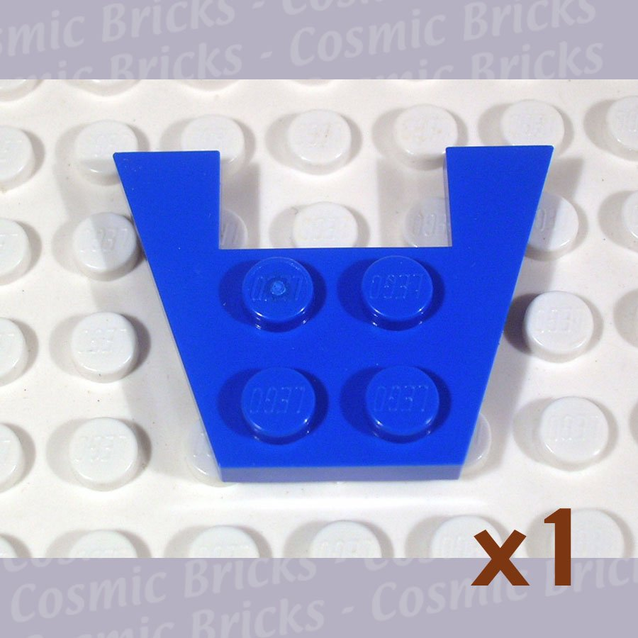 LEGO Blue Wedge Plate 3x4 without Stud Notches 485923 4859 (single,U)