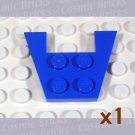 LEGO Blue Wedge Plate 3x4 without Stud Notches 485923 4859 (single,U)