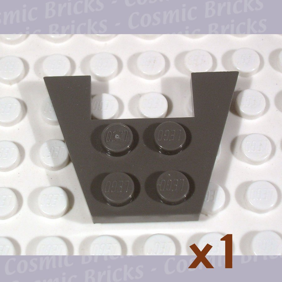 LEGO Dark Gray Wedge Plate 3x4 without Stud Notches 485927 4859 (single,N)