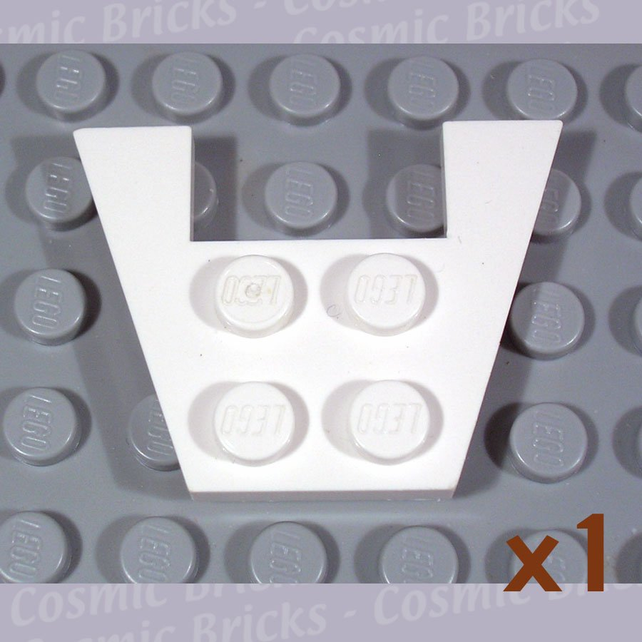 LEGO White Wedge Plate 3x4 without Stud Notches 485901 4859 (single,U)