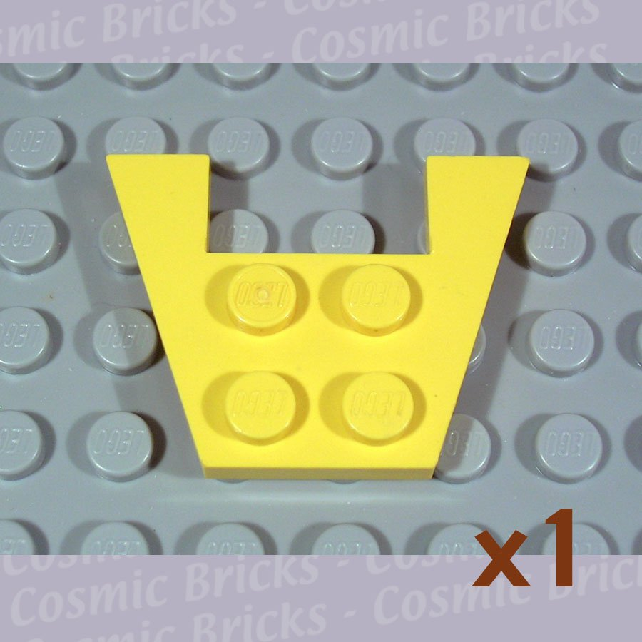 LEGO Yellow Wedge Plate 3x4 without Stud Notches 4859 (single,U)