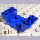 LEGO Blue Slope Inverted 45 4x2 Double 4189119 4871 (single,N)