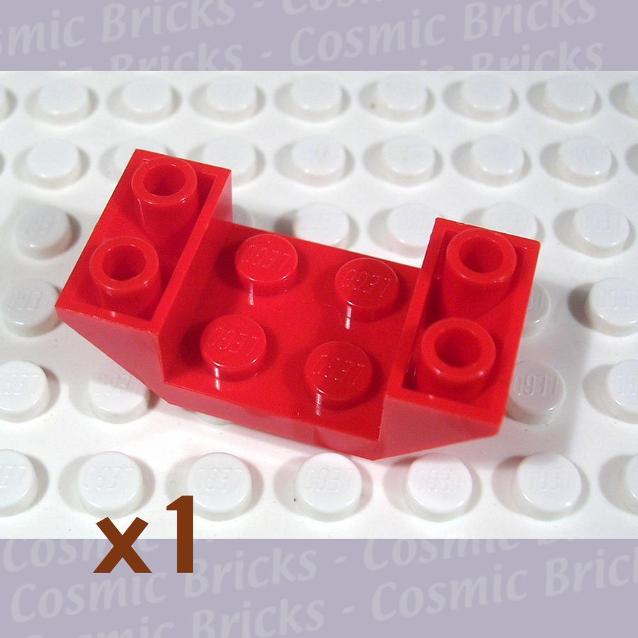 LEGO Red Slope Inverted 45 4x2 Double 487121 4871 (single,N)