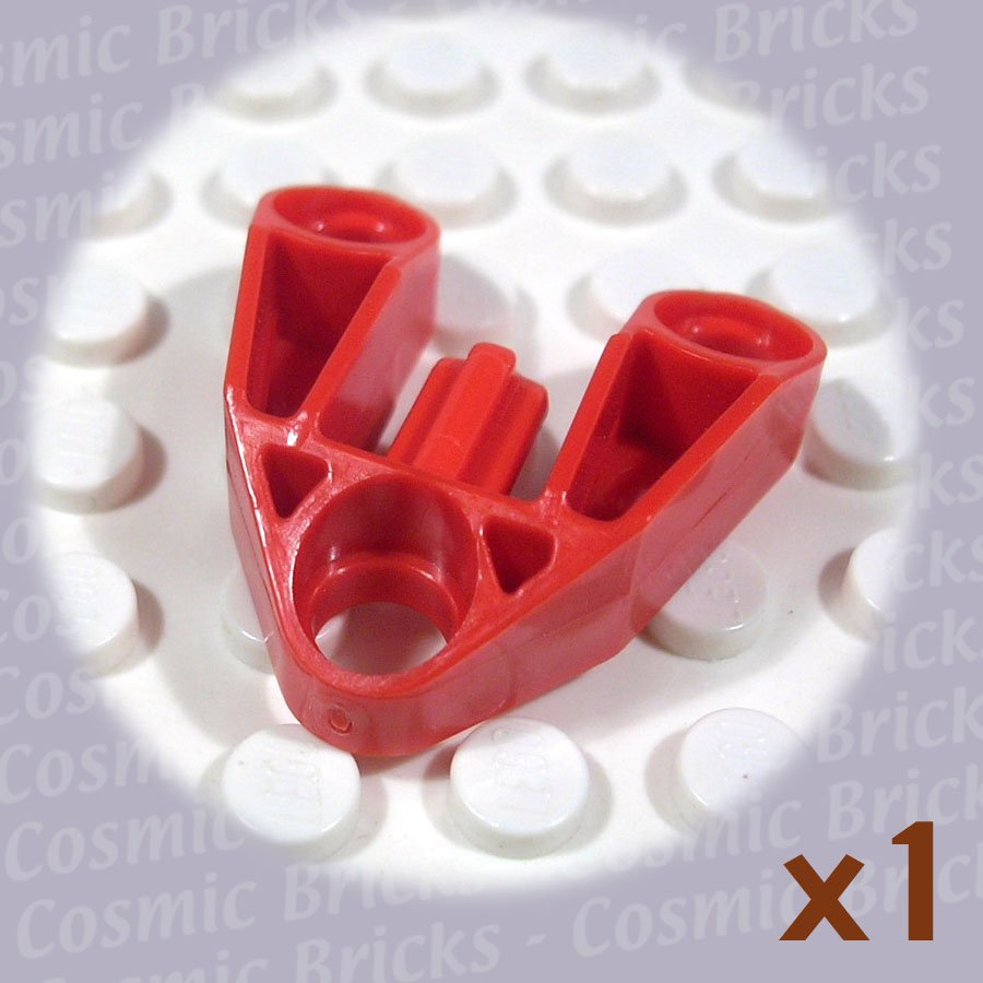 LEGO Bright Red Technic Pin Connector 3x3 Axle 4186853 4249268 32175 (single,N)