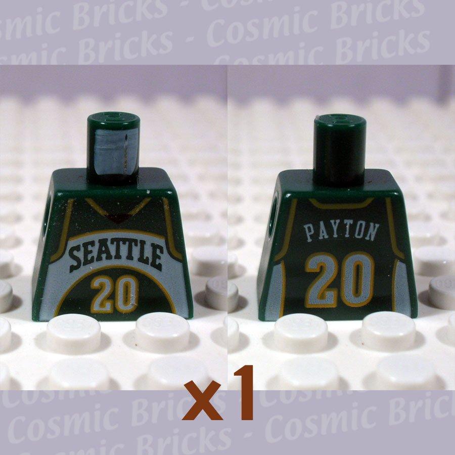 LEGO Earth Green Torso NBA Seattle SuperSonics #20 (single,N)