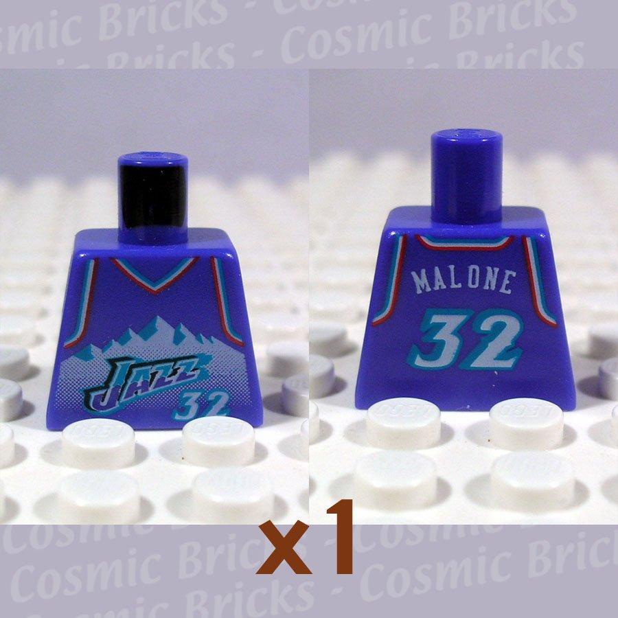 LEGO Violet Torso NBA Utah Jazz #32 (single,N)