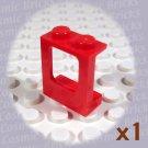 LEGO Red Window 1x2x2 Plane 4140522 2377 (single,N)