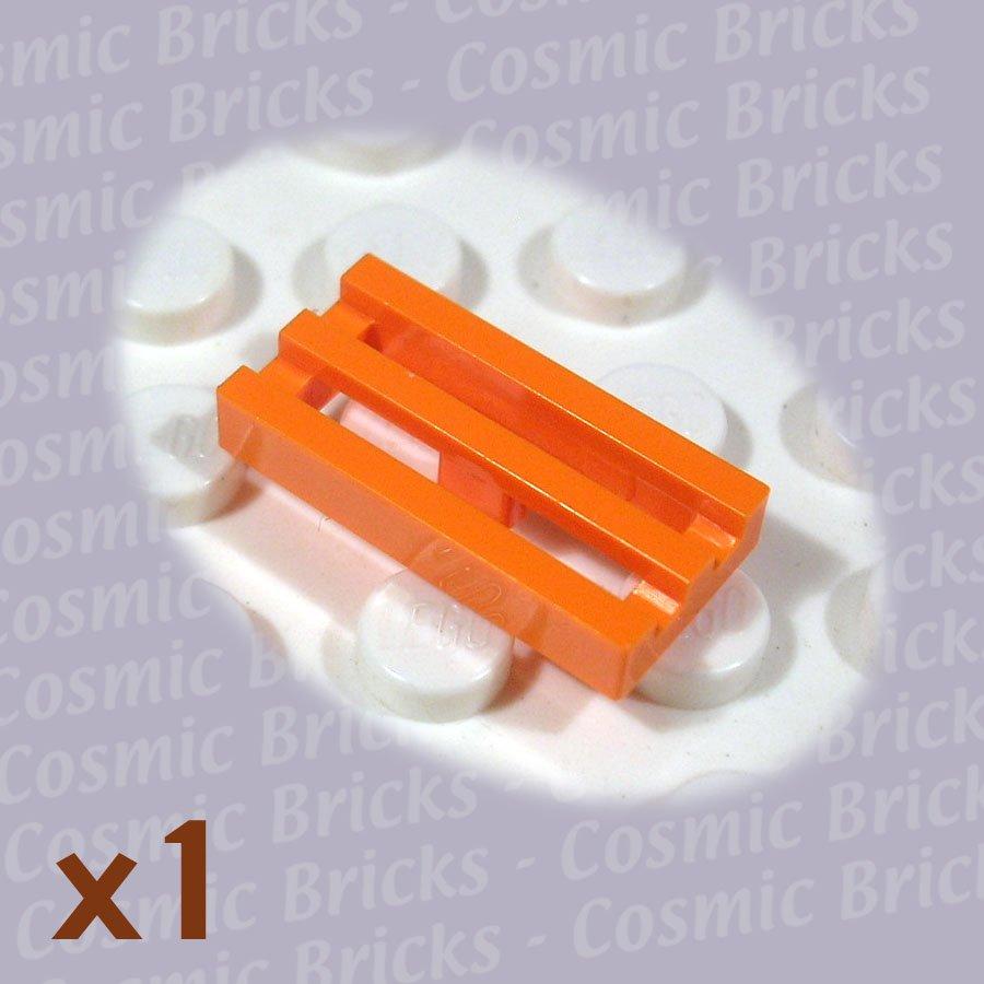 LEGO Orange Tile Modified 1x2 Grill 4125254 2412 (single,N)