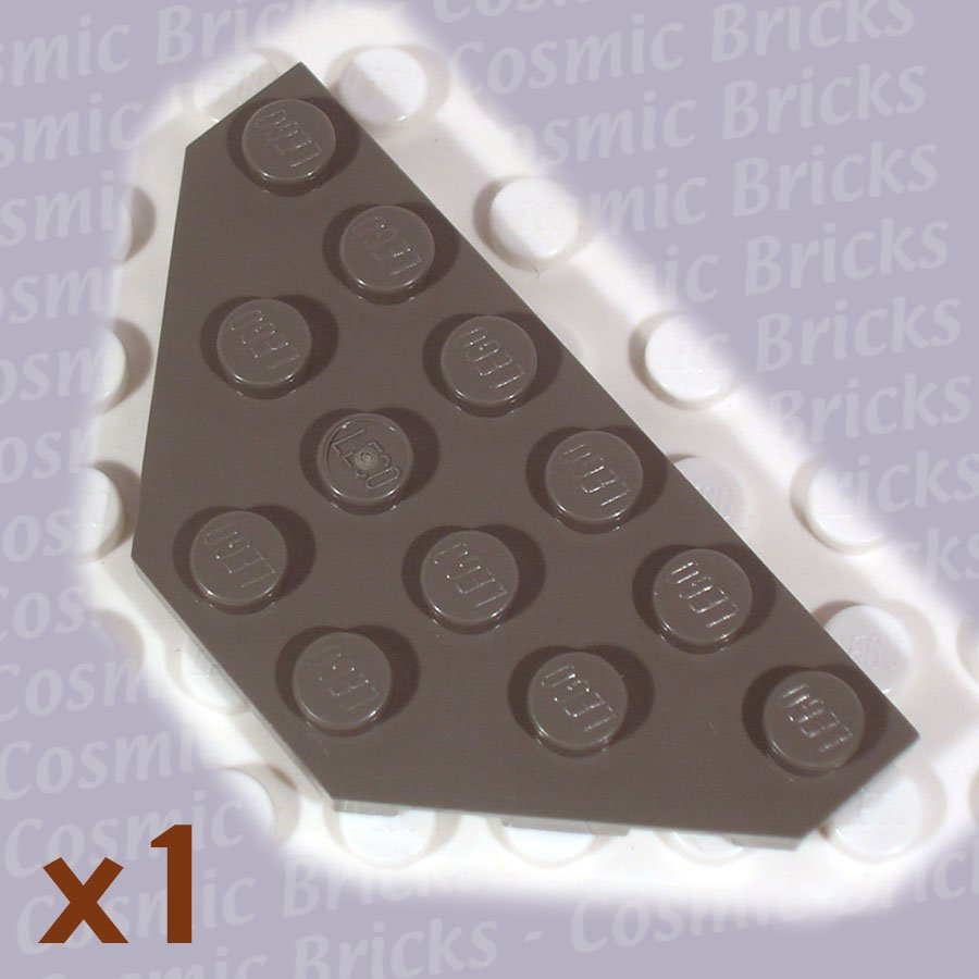 LEGO Dark Gray Wedge Plate 3x6 Cut Corners 4143042 2419 (single,N)