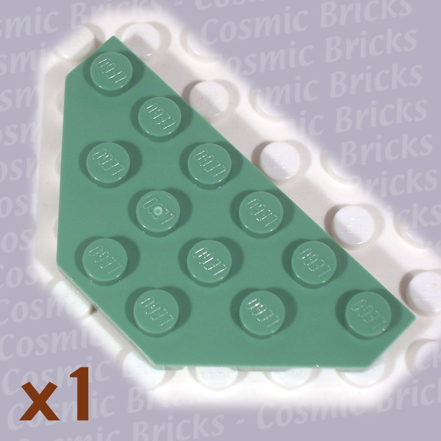 LEGO Sand Green Wedge Plate 3x6 Cut Corners 4143042 2419 (single,N)