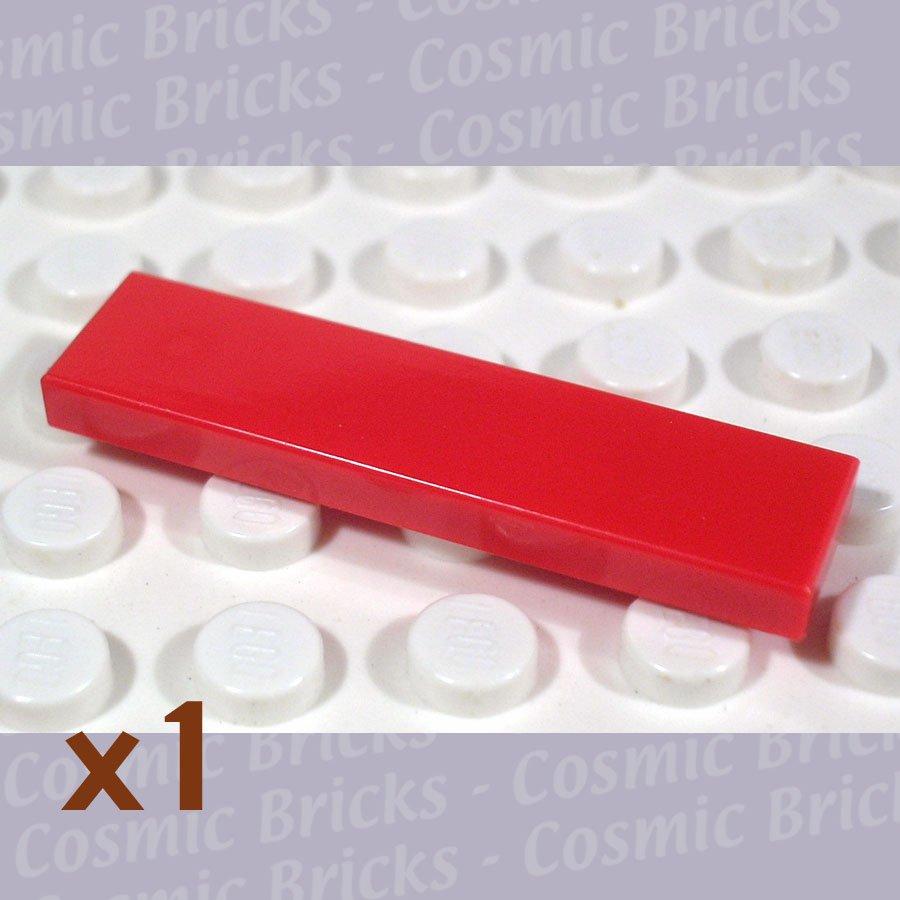 LEGO Bright Red Tile 1x4 243121 2431 (single,U)