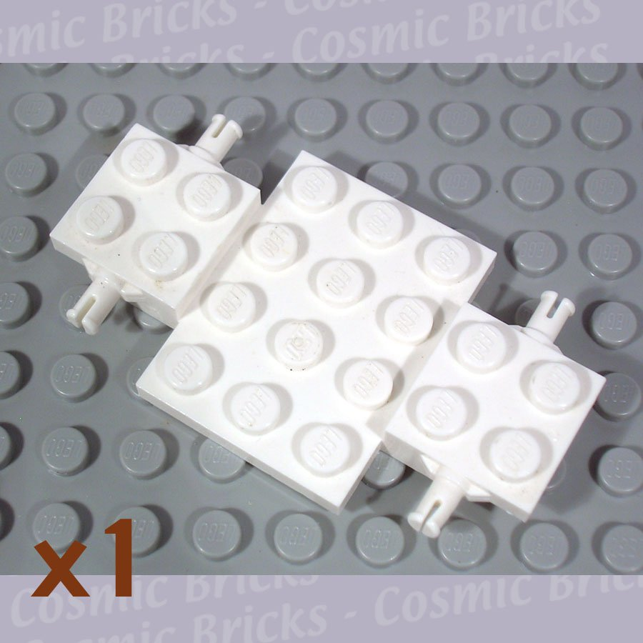 LEGO White Vehicle Base 4x7x0.6 244101 2441 (single,U)