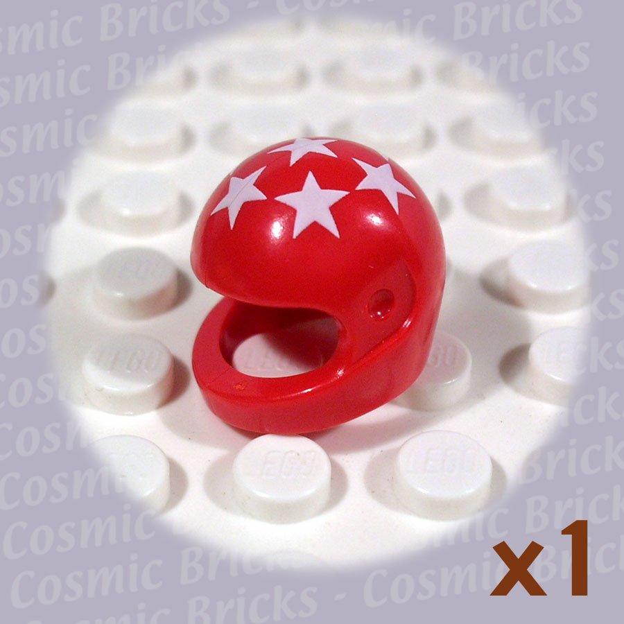 LEGO Red Helmet Standard 7 White Stars 2446 (single,U)