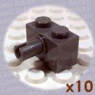 LEGO Dark Grey Brick Modified 1x2 Pin 4113907 2458 (10 pack,N)