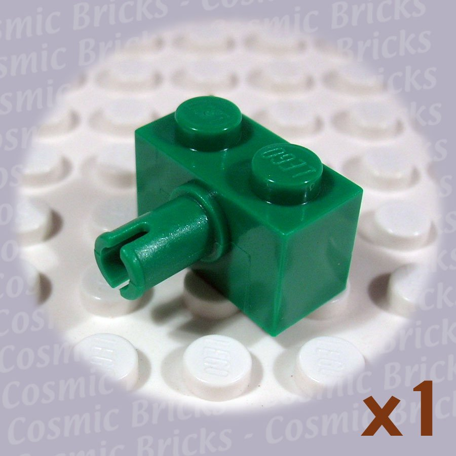 LEGO Dark Green Brick Modified 1x2 Pin 245828 2458 (single,N)