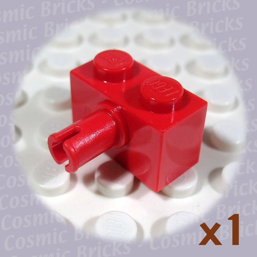 LEGO Bright Red Brick Modified 1x2 Pin 245821 2458 (single,N)