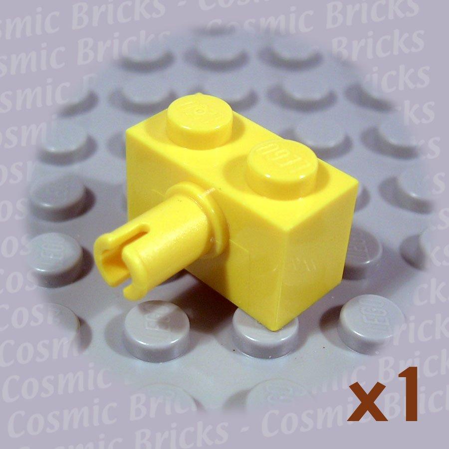 LEGO Yellow Brick Modified 1x2 Pin 245824 2458 (single,N)