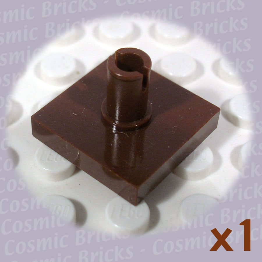LEGO Brown Tile Modified 2x2 Pin 2460 (single,N)
