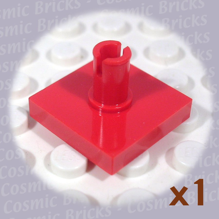 LEGO Bright Red Tile Modified 2x2 Pin 246021 2460 (single,N)