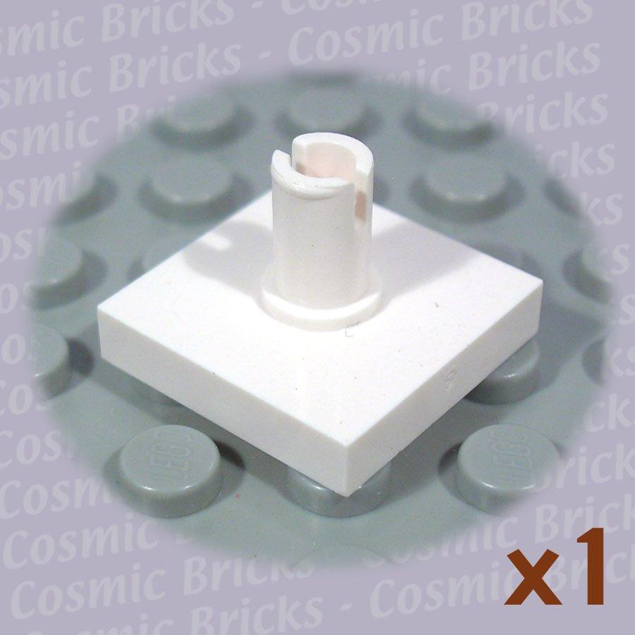 LEGO White Tile Modified 2x2 Pin 246001 2460 (single,N)