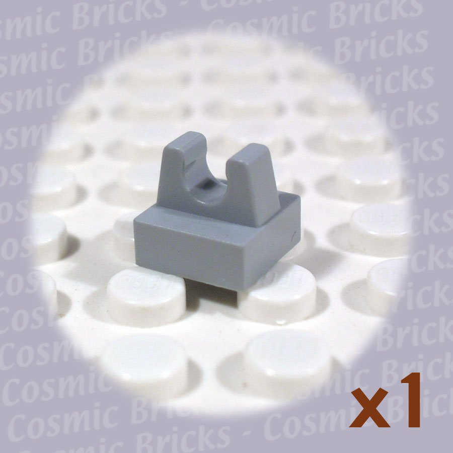 LEGO Light Bluish Gray Tile Modified 1x1 Clip 2555 4211369 (single,N)