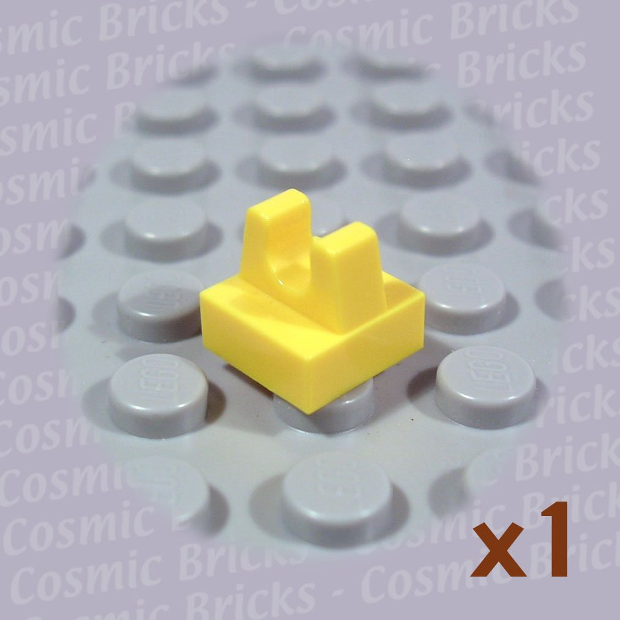 LEGO Yellow Tile Modified 1x1 with Clip 2555 4164060 (single,N)