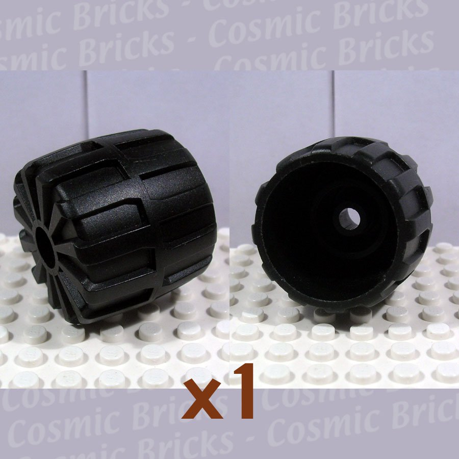 LEGO Black Wheel Hard Plastic Medium 2593 (single,U)