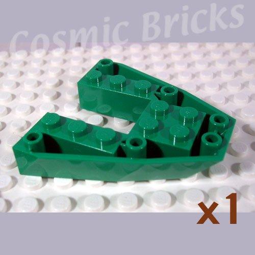 LEGO Dark Green Boat Bow Brick 6x6x1 2626 (single,N)
