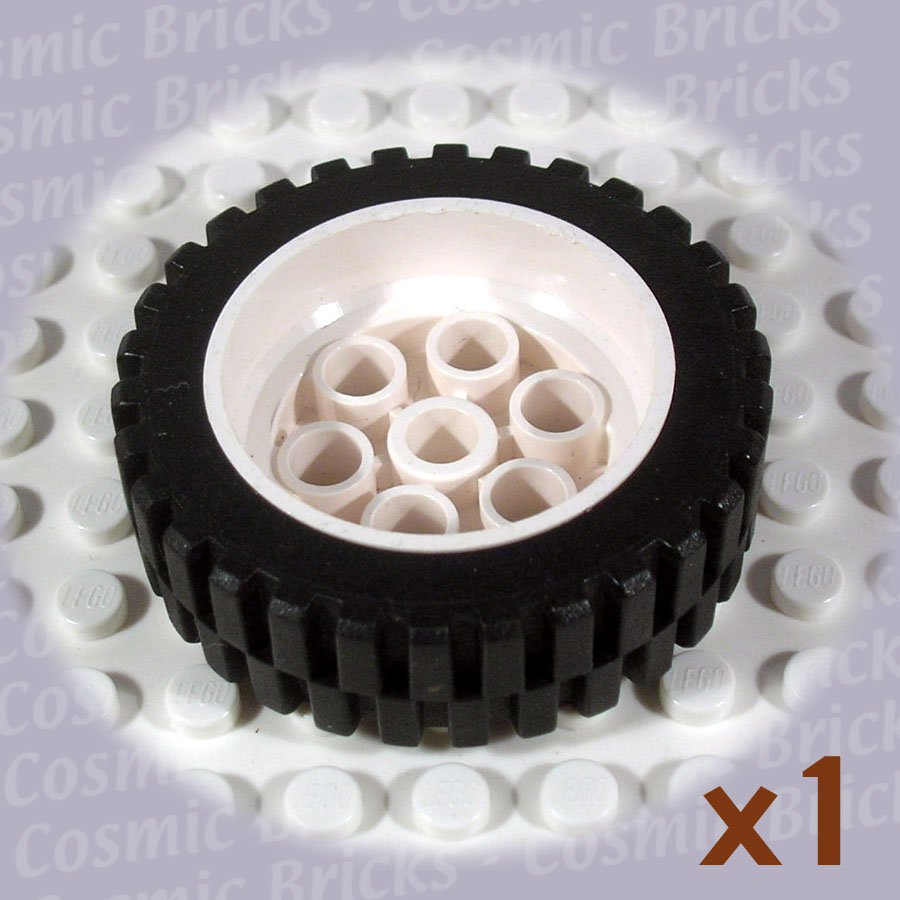 LEGO White Wheel 13x24 Black Tire 13x24 Model Team 2695 (single,U)