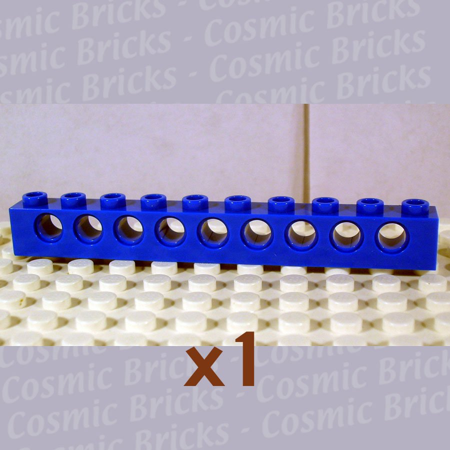 LEGO Blue Technic Brick 1x10 with Holes 273023 2730 (single,N)