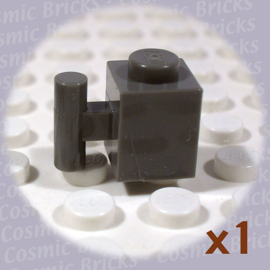 LEGO Dark Gray Brick Modified 1x1 Handle 4118873 2921 (single,N)