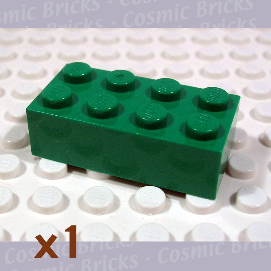 LEGO Dark Green Brick 2x4 4106356 3001 (single,U)