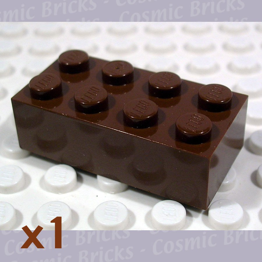 LEGO Brown Brick 2x4 4124052 3001 (single,N)