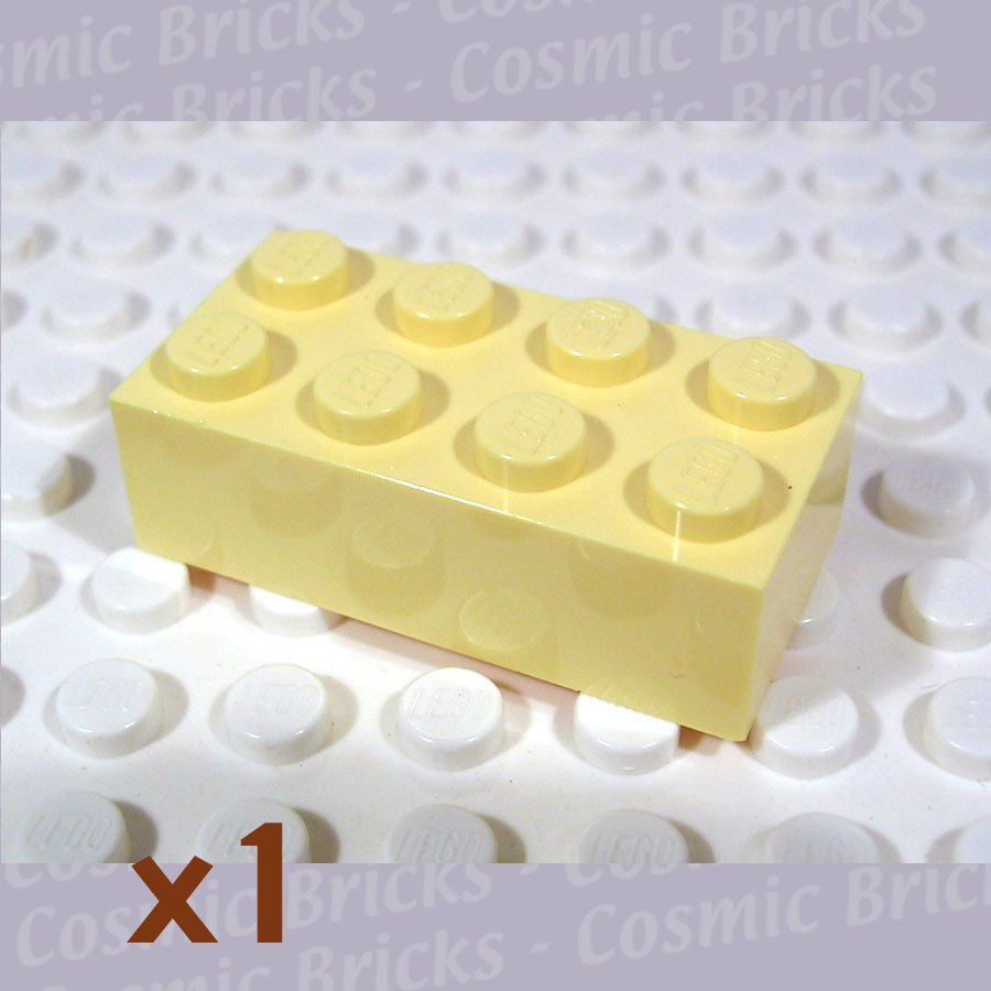LEGO Light Yellow Brick 2x4 3001 (single,N)