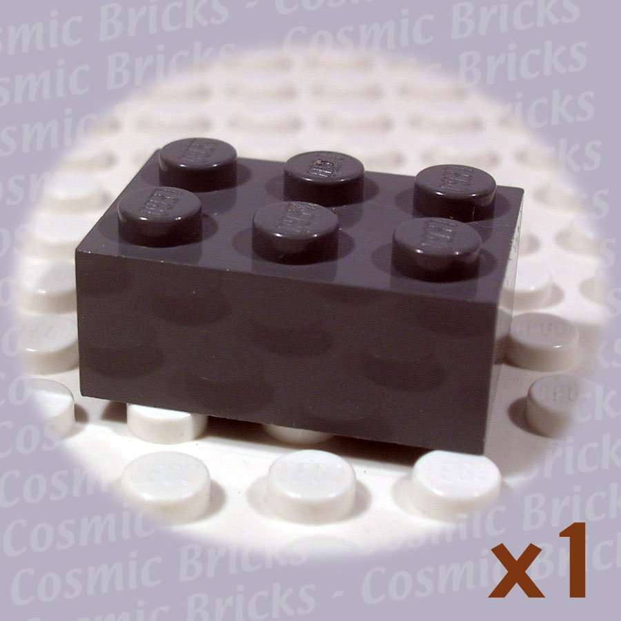 LEGO Dark Bluish Gray Brick 2x3 4211105 3002 (single,N)