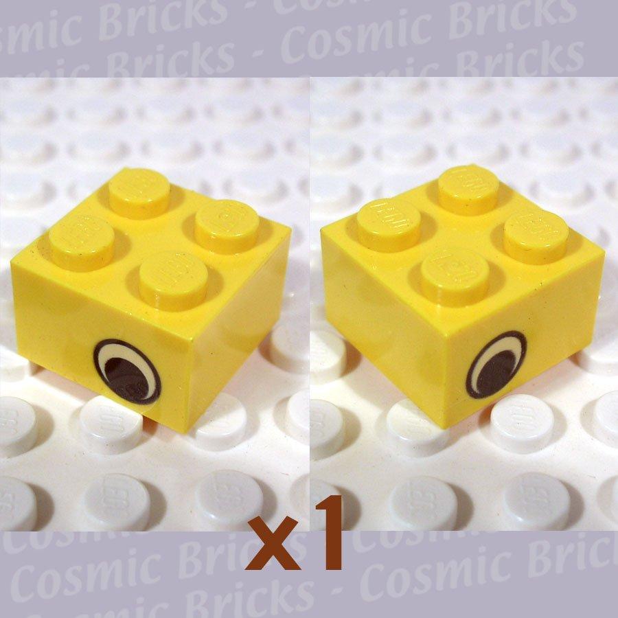 LEGO Yellow Brick 2x2 Eye Two Sides Offset 3003 (single,N)