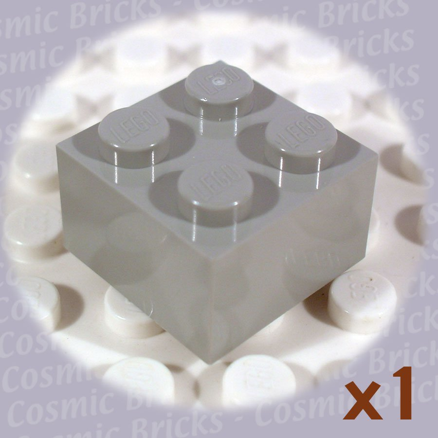 LEGO Light Gray Brick 2x2 300302 3003 (single,N)