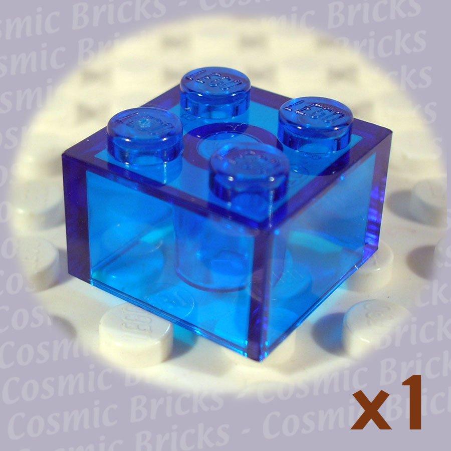 LEGO Trans-Dark Blue Brick 2x2 4144387 3003 (single,N)