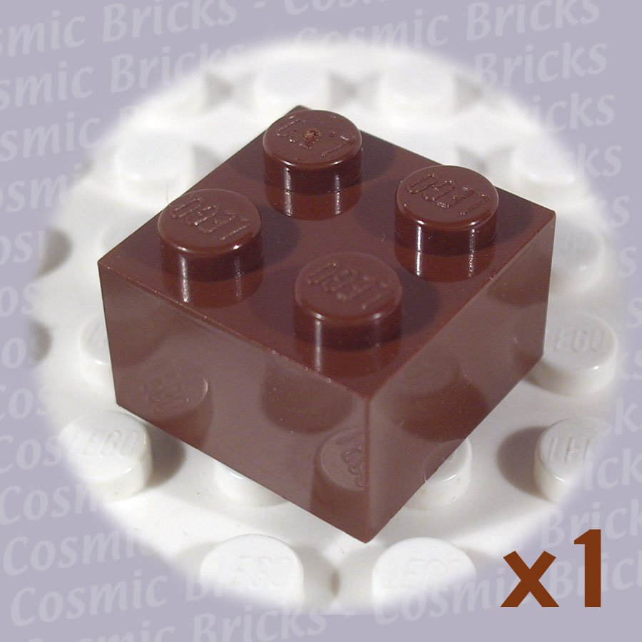 LEGO Brown Brick 2x2 4140745 3003 (single,N)