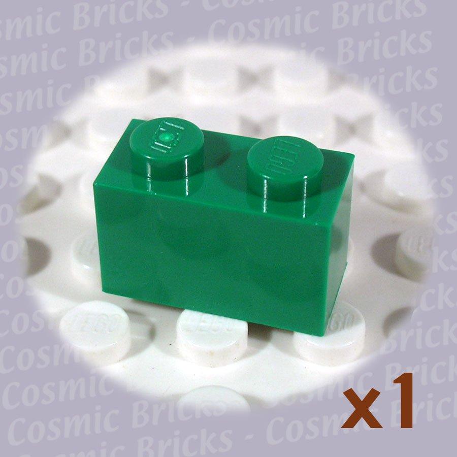 LEGO Dark Green Brick 1x2 4107736 3004 (single,N)