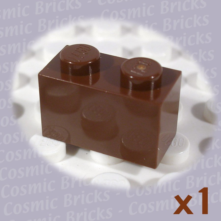 LEGO Brown Brick 1x2 300425 3004 (single,N)