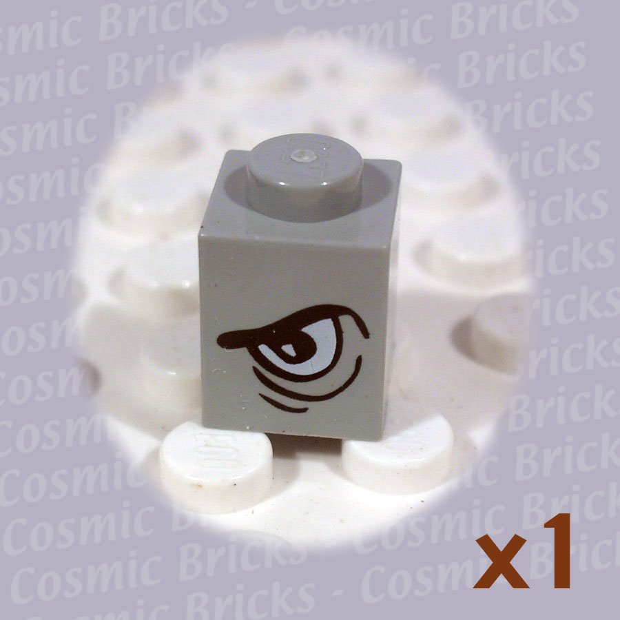 LEGO Light Gray Brick 1x1 Eye Grim Left (single,N)
