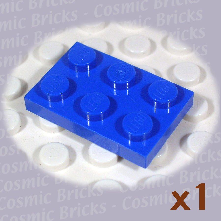 LEGO Blue Plate 2x3 302123 3021 (single,N)