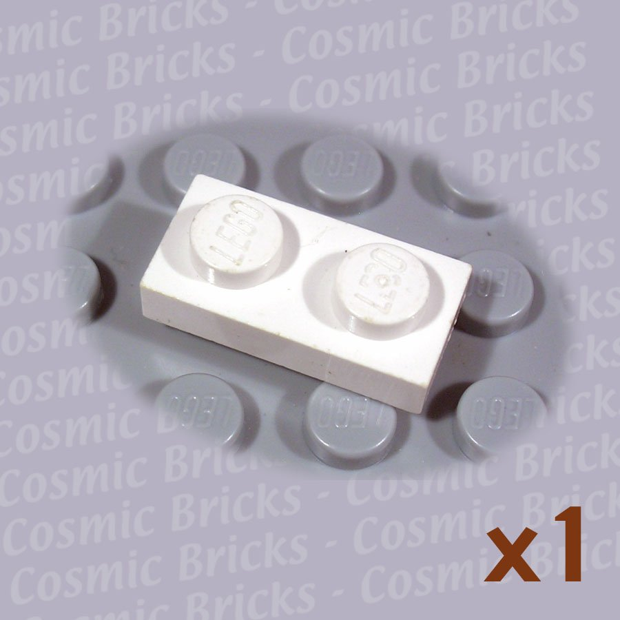 LEGO White Plate 1x2 302301 3023 (single,U)