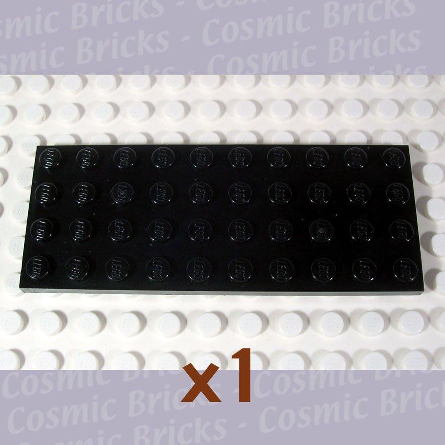 LEGO Black Plate 4x10 303026 3030 (single,N)