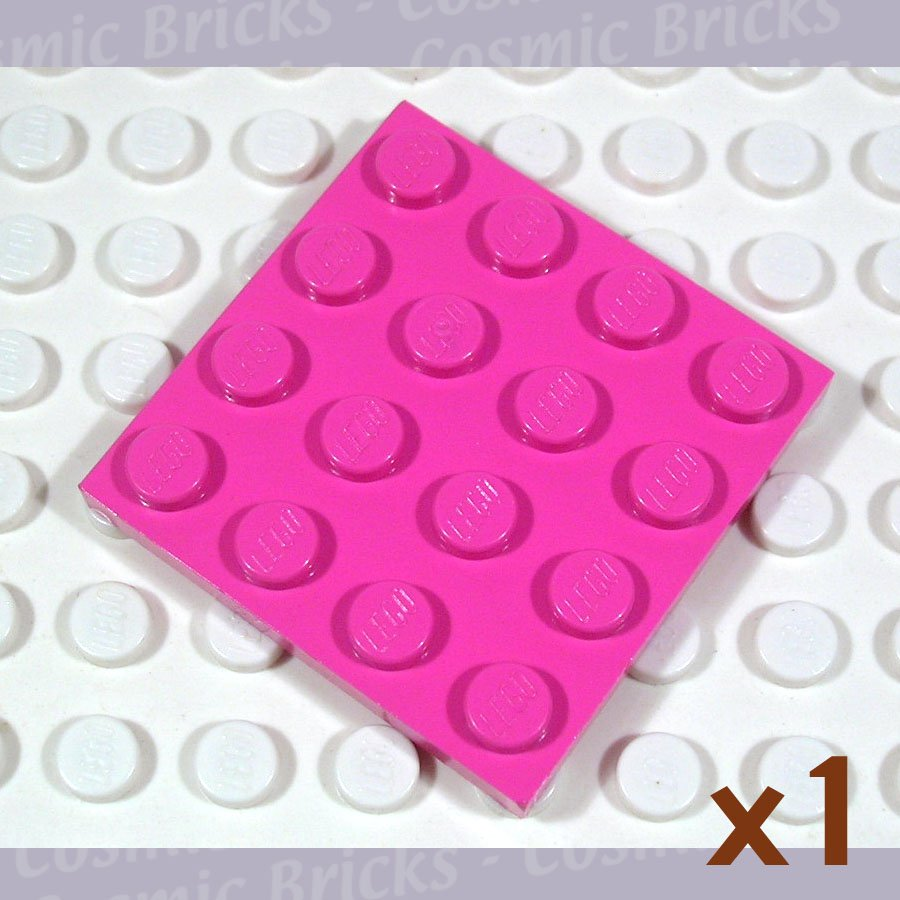 LEGO Dark Pink Plate 4x4 3031 (single,N)
