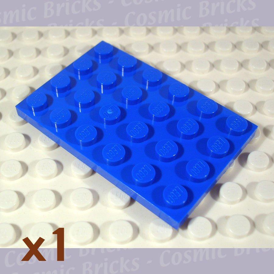 LEGO Blue Plate 4x6 303223 3032 (single,U)