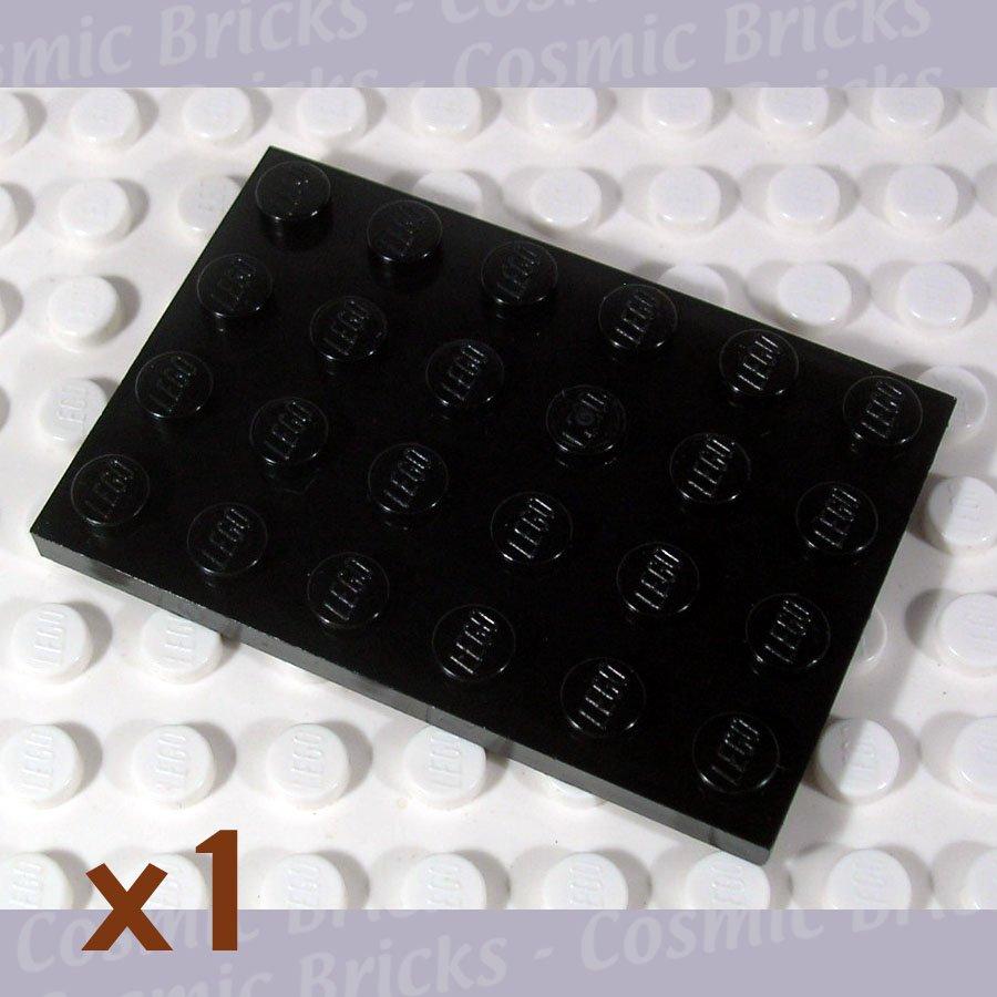 LEGO Black Plate 4x6 303226 3032 (single,N)